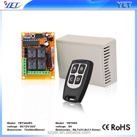 High quality wireless rf 433.92mhz remote control transmitter receiver for gate opener
