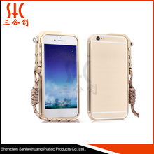Fast delivery aluminium fashion cover case with rope
