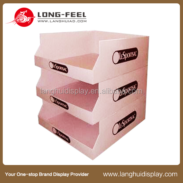 Promotion cardboard pos advertising equipment corrugated cardboard food display apple fruit stand