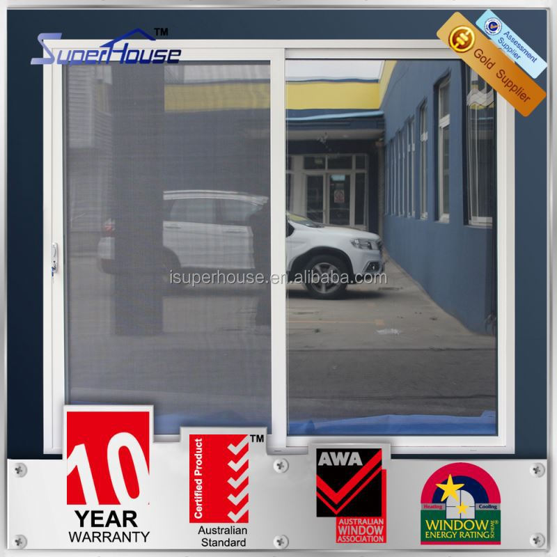 Australian standards AS2047 AS2208 AS1288 double glass commercial brush seal sliding door
