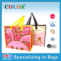 cheap nylon shopping bag, rabbit zipper bag for travel