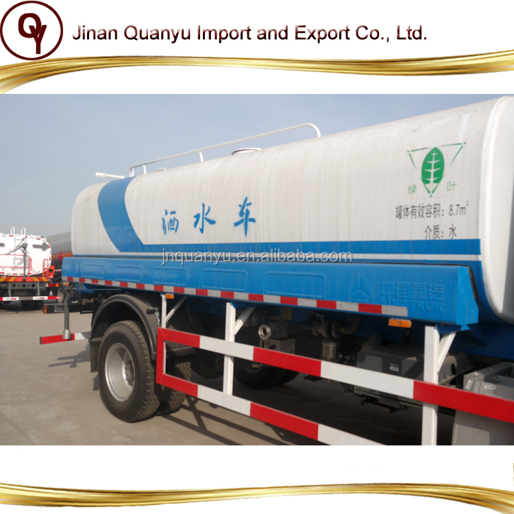 Sinotruk Steyr 4X2 truck fuel water sprinkler tank 18000L to 26000l for sale