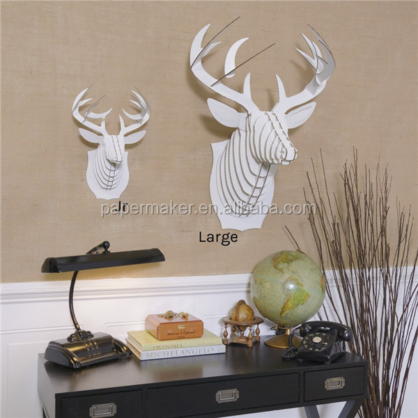 Deer head for wall hanging 3D decoration paper craft