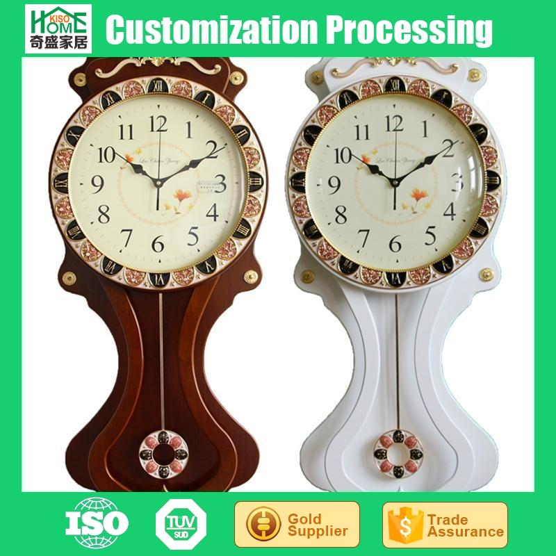 16 inches Fashion Mute Wooden Living Room Pendulum Clock