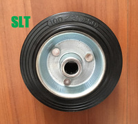 4 inch solid rubber wheels for heavy duty cart small caster wheel galvanized