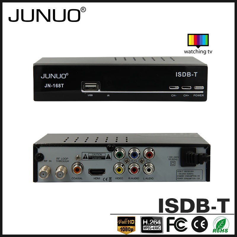 JUNUO shenzhen manufacture OEM cheap quality hd 1080p H.264 mstar tv tuner Philippines digital tv receiver isdb-t