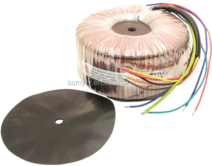 1000VA High Isolation Toroidal Transformer 100/120/220/240V to 2 x 110V 8.33 Amps, TYH1000/110