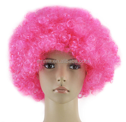 2016 hot sale pink cheap long curly hair weave wig W12064