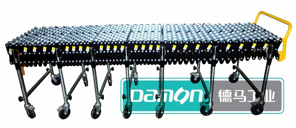 Steel Skate Wheel Flexible Expandable Conveyor