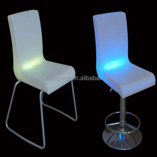 Modern Colors change lighting solar powered plastic LED <strong>chair</strong> with 10 years more lifespan