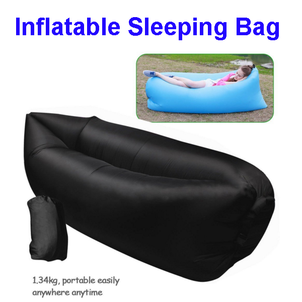 100% Nylon Material Hangout Inflatable Sofa Air Sleeping Bag,Lazy Bag Lounger