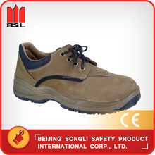China hot selling top quality low price SLS-UR666 leather construction industrial worker working safety boots