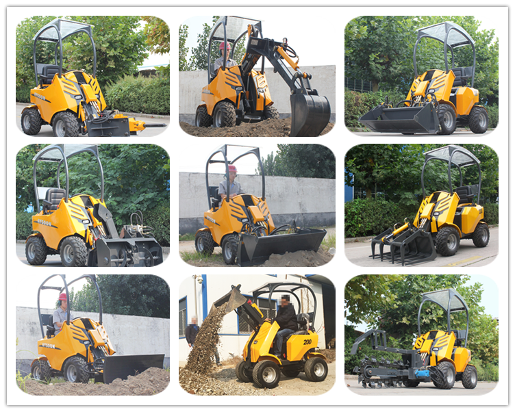 Avant type hysoon hy200 articulated mini wheel loader