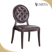 hotel furniture replaceable seat cushions aluminum stacking leather banquet chairs for sale