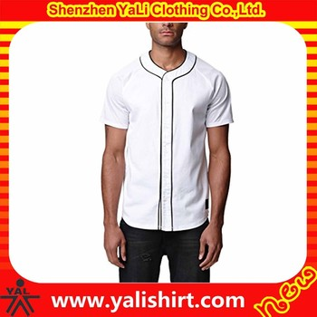 Cheap hot sale dry fit polyester mesh short sleeve white blank baseball jerseys wholesale