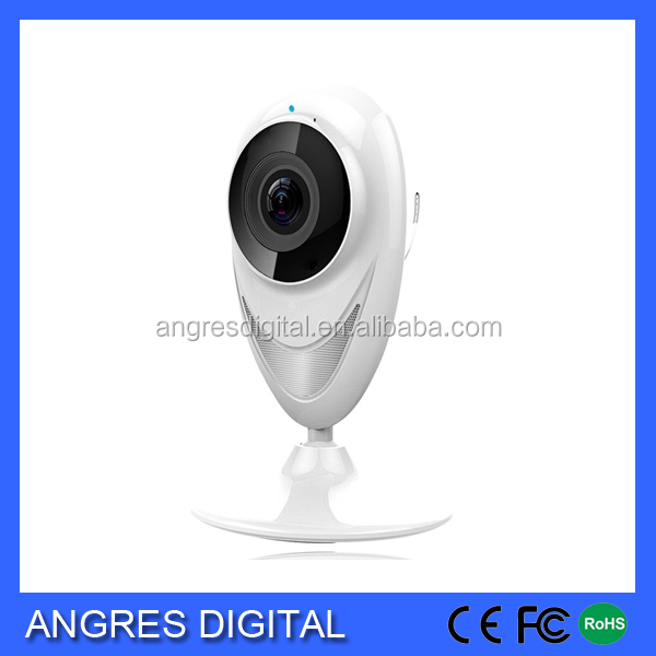 P2P Home Security Camera System Fisheye Wide Angle 180 Wireless IP Camera with TF Card Port