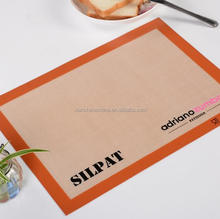 2017 Hot sales Food grade FDA LFGB silpat wholesale non-stick silicone fiberglass baking mat , non-stick silicon baking mat