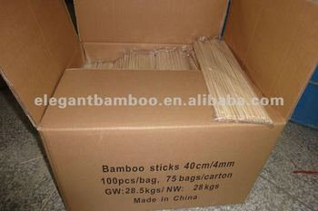 Bamboo stick with round one tip pointing
