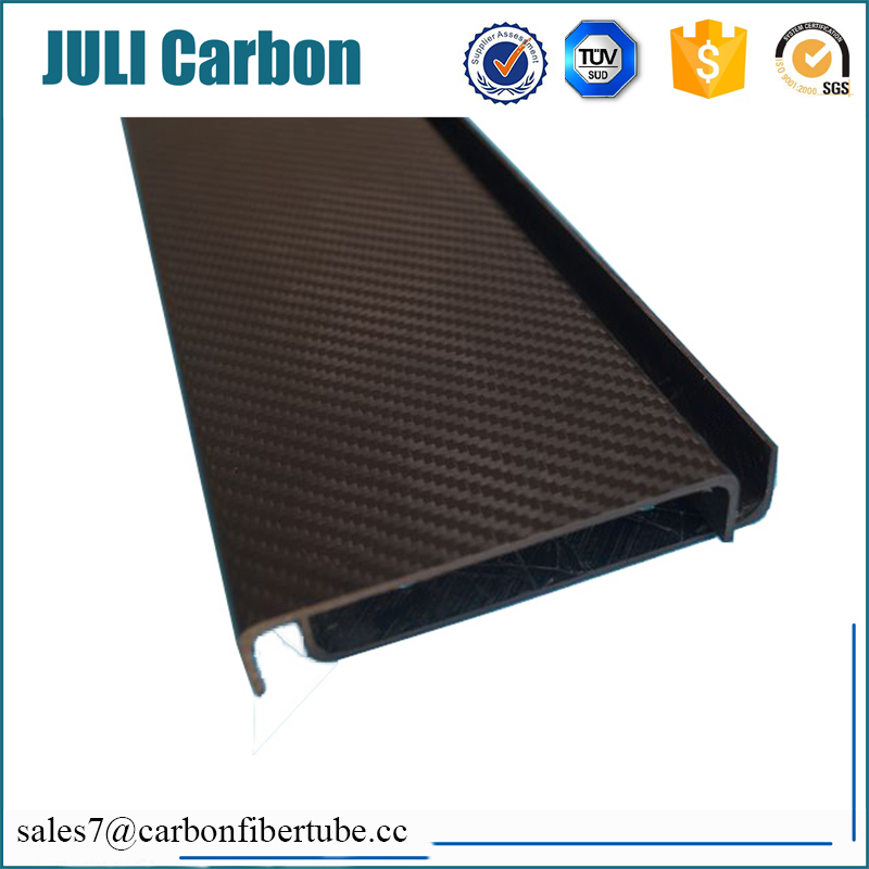 factory custom carbon fiber strip/carbon fiber u shape strip