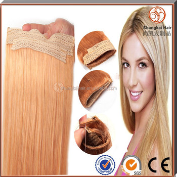 Halo hair extension 100% human remy hair fish wire hair extensions