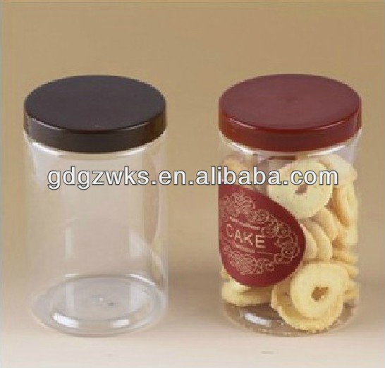 plastic cookie jars  450ml Transparent Sealing Pet Plastic Cookie Jar/groceries Bottles ...