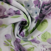 100% polyester microfiber fabric Pigment Printing 65gsm for bedding