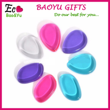 Women's Fashion Makeup Powder Puff Silicone Health beauty clear soft silicone cosmetic Sponges