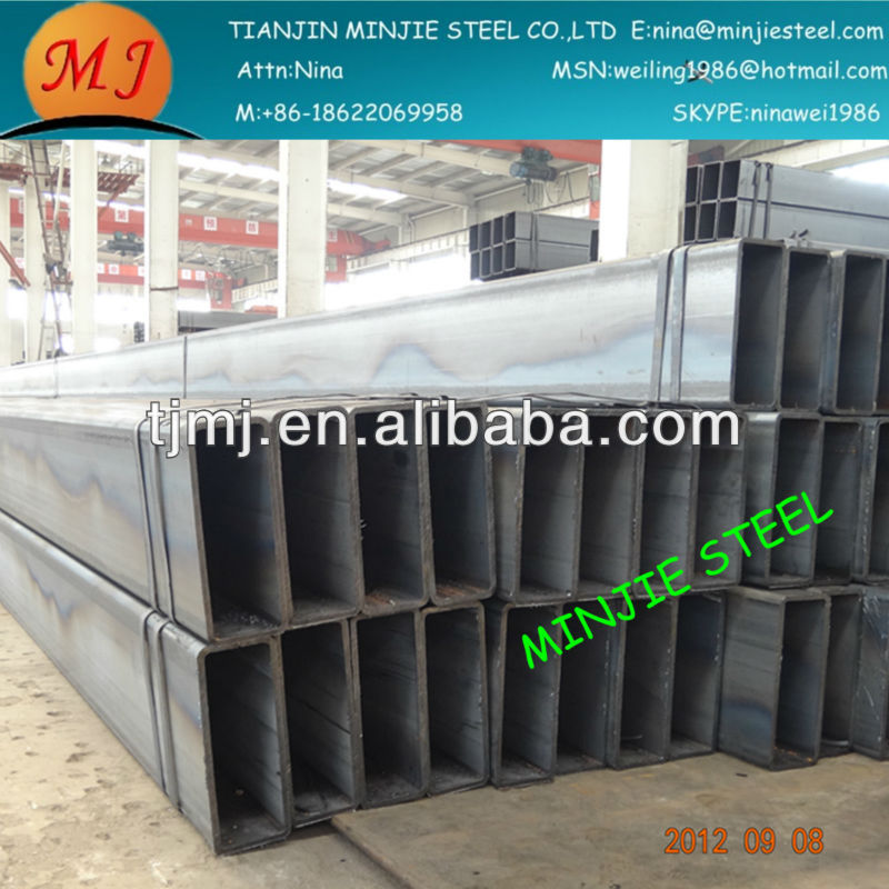 Black cold formed steel hollow section rectangular tube with ASTM standard for civil construction