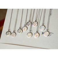 Lucky birthday necklace, high-grade foreign trade polishing jewelry, fashionable men and women stainless steel pendants