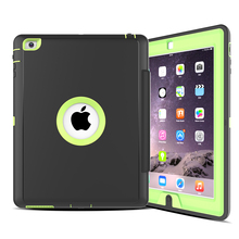 PC+TPU Hybrid Cover Leather Flip Case For iPad Air 2 Fundas
