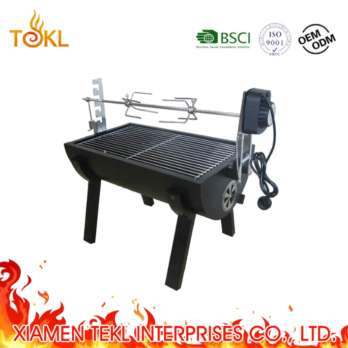 Small Charcoal Grill Garden/Family Set Wood Fired Cooking Grill spit rotisserie