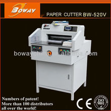 Boway 520mm Electrical Programmed automatic paper waste white paper cutting
