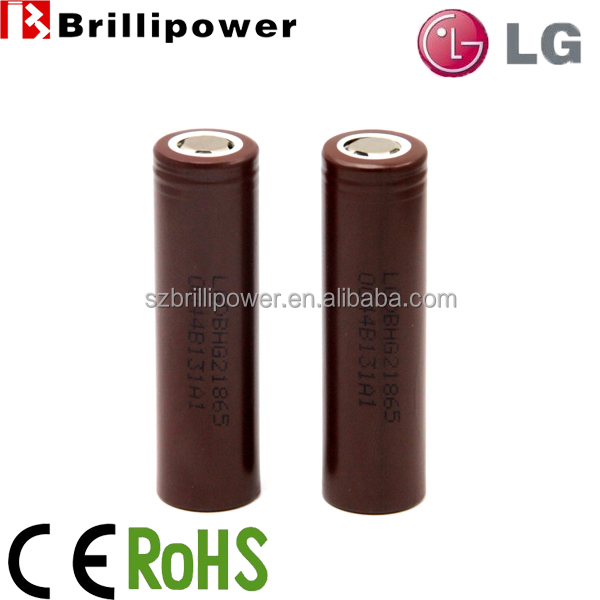 Wholesale 18650 battery brillipower original lg hg2 18650 3000mah battery 3.7v lithium battery for mod vapor