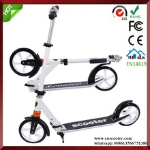 town 7 aluminum 2 wheels Foldable adult big wheel kick scooter with double suspension