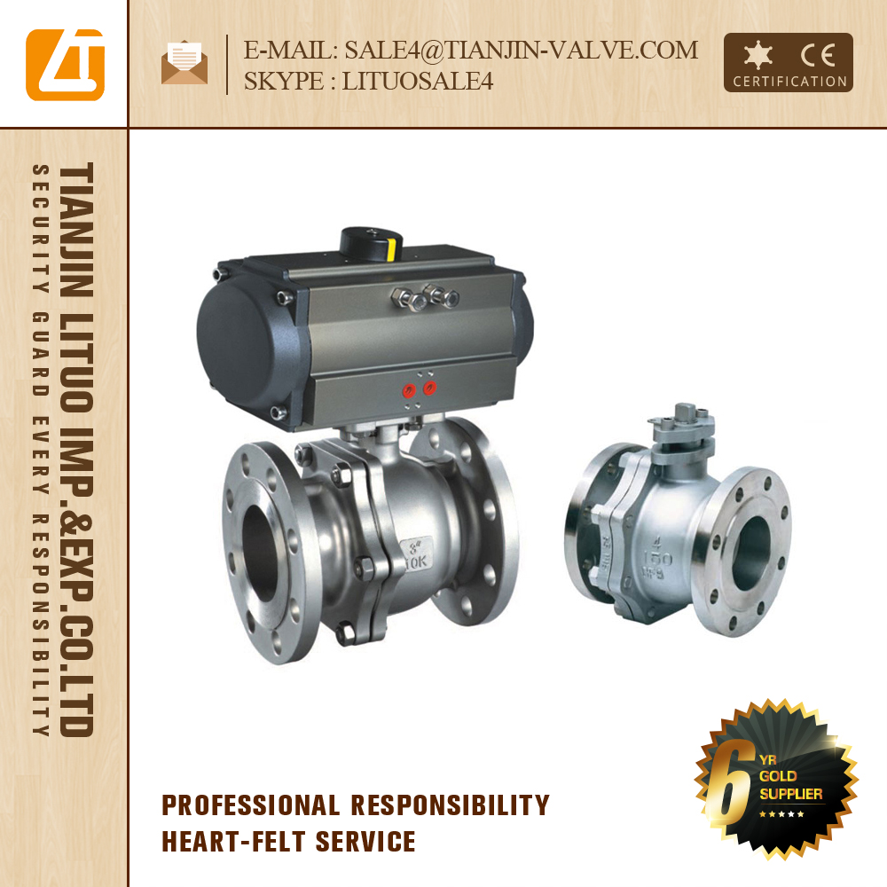 ANSI JIS GB DIN Worm Gear Flange floating DN15 Ball Valve