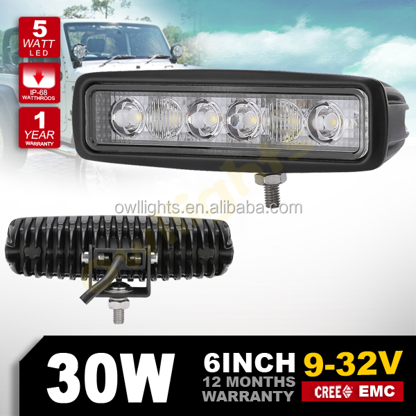 4x4 SUV automobile accessories 12V Auto 30w 6inch Small Mini led tractor work lights led scooter headlight