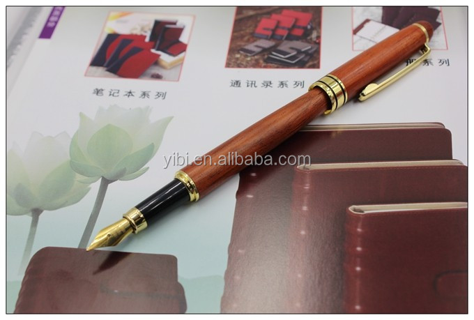 2016 Promotional Wooden fountain metal nib with logo printing maple metal pen rose wooden ballpiont pen for business pen