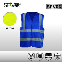 2015 New Products High Visibility Clothing Wholesale Reflective hi viz Fluorescent blue reflective vest running Motorcycles
