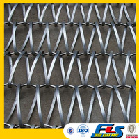 Architectural Decorative Flat and Round Spiral Wires Conveyor Belt Mesh/Spiral Weave Mesh
