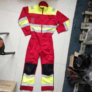 65% polyeaster35% cotton twill safety work coveralls