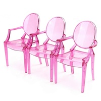 Acrylic Dollhouse Miniature Armchair Furniture Chair For Children Dolls House Accessories Random Color