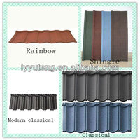 Color steel stone coated roof tile shingle with 5 red pot