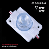 High power 2w smd3030 led module for double sides light box(aluninum PCB and ABS injection,optical lens)
