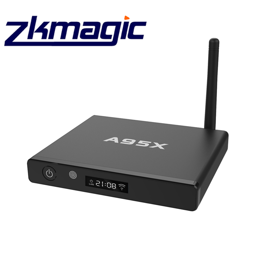 NEW Zkmagic A95X King enigma2 linux os set top box android tv box