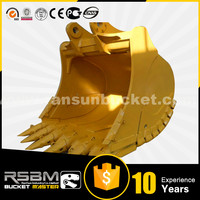 High Quality HARDOX-500 Material PC1250 reinforced heavy rock bucket