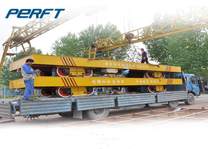 aluminium coil transportation cart with rail motorized coil transfer trolley
