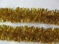 Shiny Yellow Tinsel Garland/ Wholesale Christmas Garland/ Tassel Garland