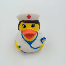 Customized Cute Promotion Nurse Rubber Bath Duck
