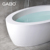 Man-made stone round corner bathtub for sale