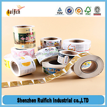 Custom label printing adhesive package label,thermal adhesive tape rolls
